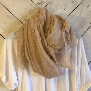 Light tan pashmina scarf wrap
